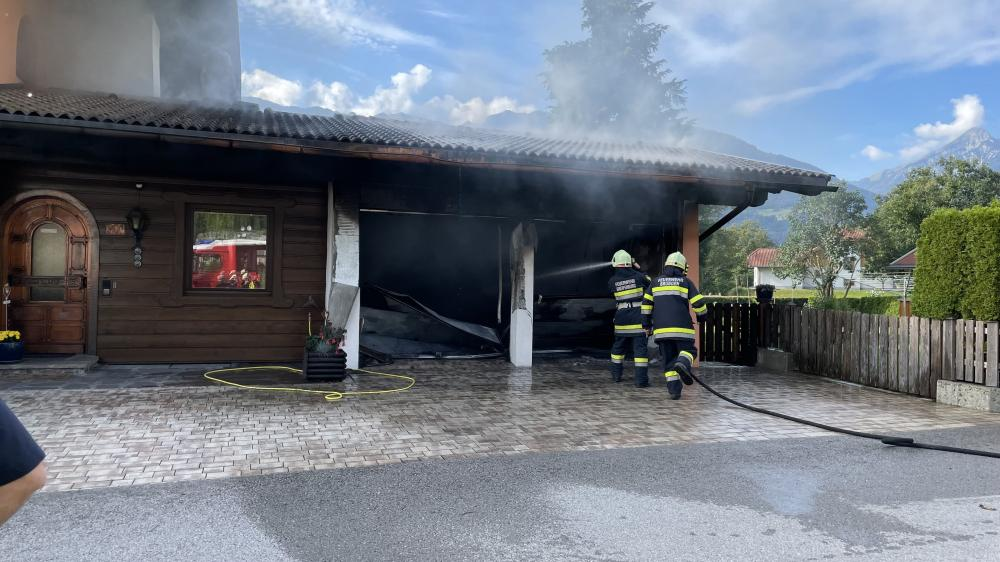 Garagenbrand in Greifenburg