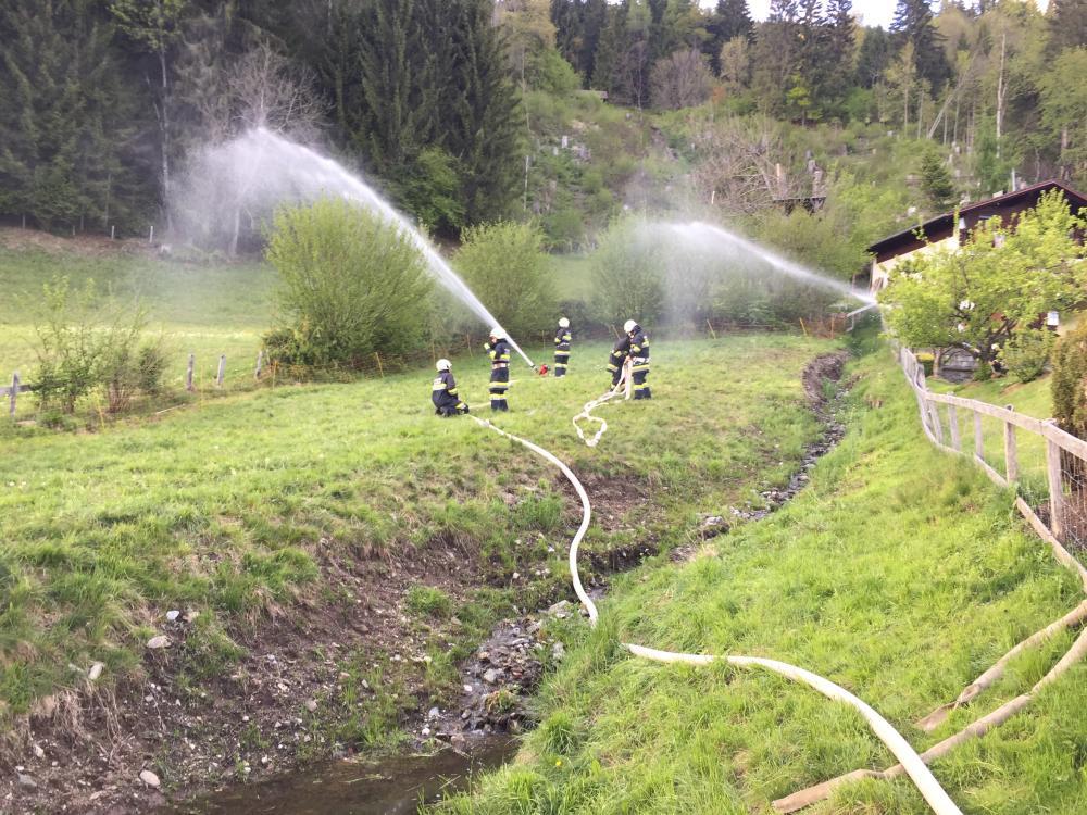 Garagenbrand in Hauzendorf