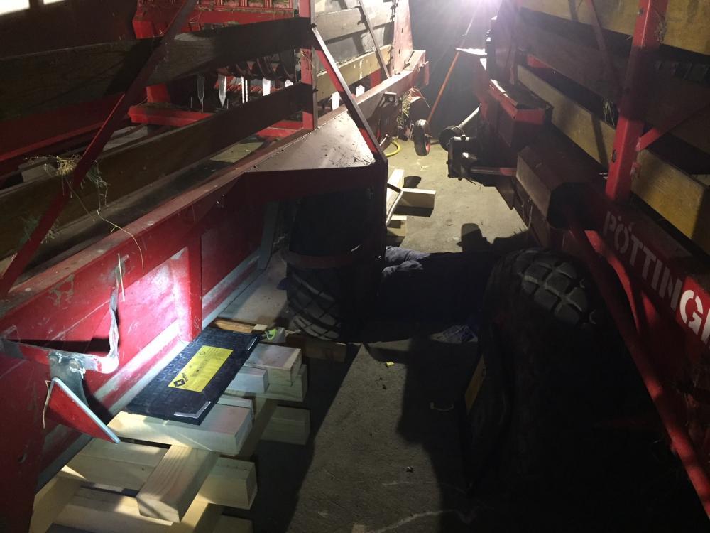 Rauchentwicklung in einer Maschinenhalle